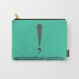 Exclamation Comma Carry-All Pouch