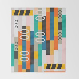 Modern abstract construction Throw Blanket