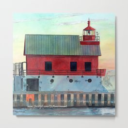 Grand Haven Outer lighthouse Focus Metal Print