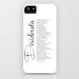 DESIDERATA Poem for Life by Max Ehrmann - PO1001 iPhone Case