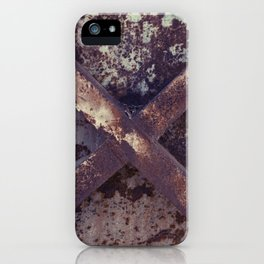Rusty Metal Cross iPhone Case