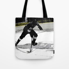 On the Move - Hockey Player Tote Bag