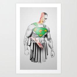 Sliced Godman Art Print