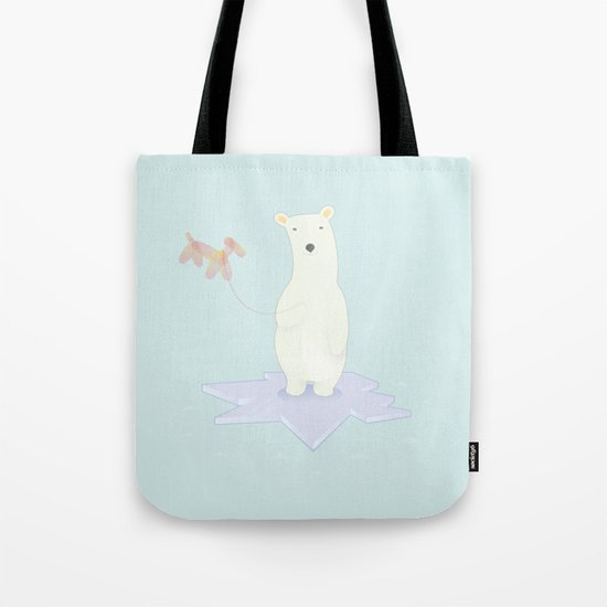 Polar bears love balloons Tote Bag
