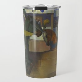 A Medieval Knights Jousting Tournament Travel Mug