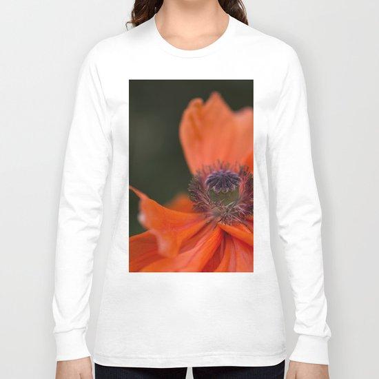 Poppyqueen Poppy Flower Flowers Poppies Long Sleeve T-shirt
