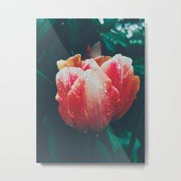 Floral Rain Metal Print