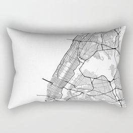 Minimal City Maps - Map Of Manhattan, New York, United States Rectangular Pillow