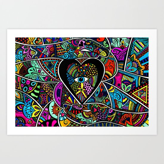 What the heart sees the hands hold  Art Print