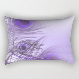 Modern purple lilac abstract peacock feathers gradient Rectangular Pillow