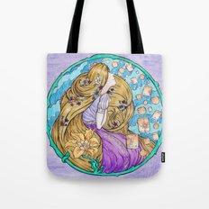 Rapunzel Art Nouveau Style Tote Bag