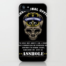 Proud Correctional Officer iPhone Case
