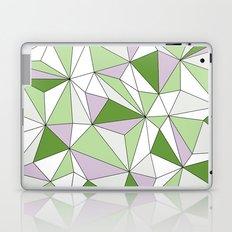 Geo - green, gray and white. Laptop & iPad Skin