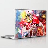 sport Laptop & iPad Skins featuring sport art- american football by yossikotler