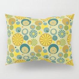 Circle Frenzy - Yellow Pillow Sham