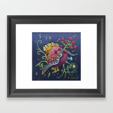 Justine 's planet Framed Art Print