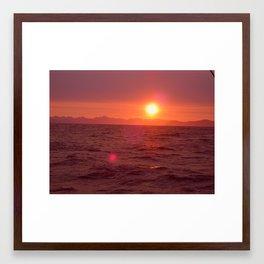 sun spot Framed Art Print