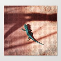 lizard Canvas Prints featuring Lizard by AhaC
