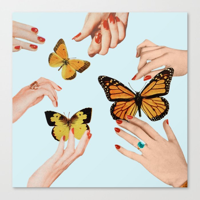 Social Butterflies Leinwanddruck