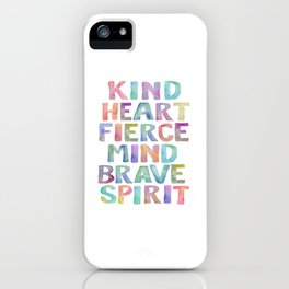 Kind Heart Fierce Mind Brave Spirit Printable Tribal Nursery Quote Girl Tribal Decor Tribal Wreath iPhone Case