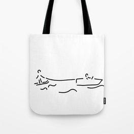 water-ski boat waterski Tote Bag