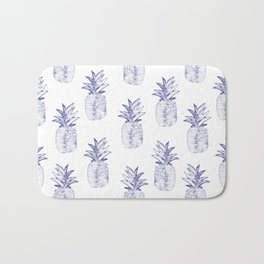Blue Pineapple Bath Mat