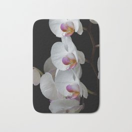 White Orchids Bath Mat