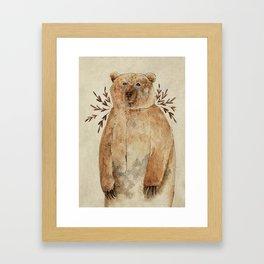 Brown Bear Framed Art Print
