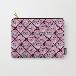 Skulls and Blossoms Carry-All Pouch