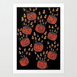 Candy Corn Mayhem Art Print