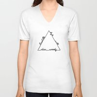 bastille V-neck T-shirts featuring Bastille Triangle by OhHolyBastille