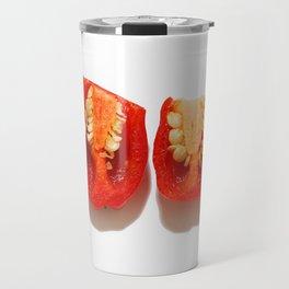 Sliced red peppers Travel Mug