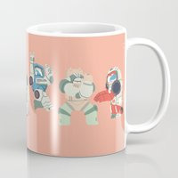 transformer Mugs featuring Minibots by confinedclone