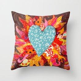 Love Over Fire Throw Pillow