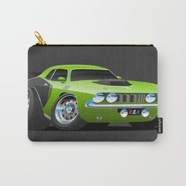 Classic Seventies Style American Muscle Car Cartoon Carry-All Pouch