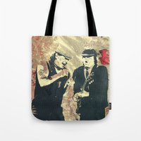 dc Tote Bags featuring AC/DC by Nechifor Ionut