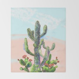 Cactus Throw Blanket