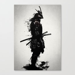 Armored Samurai Canvas Print
