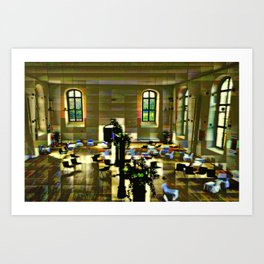 Place of exhibition Art Print