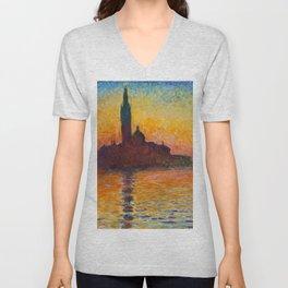 "Claude Monet ""San Giorgio Maggiore at Dusk"" Unisex V-Neck"