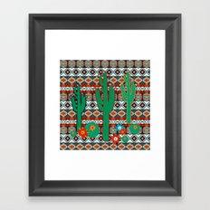 Southwest Cactus Framed Art Print