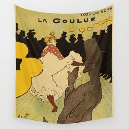 Paris nightlife 1891 Toulouse Lautrec Wall Tapestry