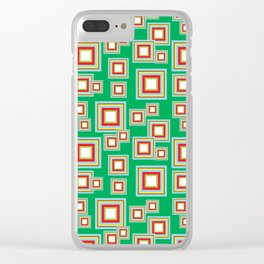 Square Pattern Clear iPhone Case