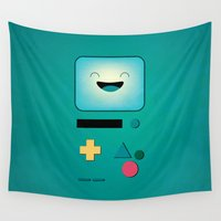 bmo Wall Tapestries featuring BMO  by Milli-Jane