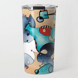 Abstrat High Tea Contrast Travel Mug