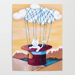The cat traveling in dreams Poster