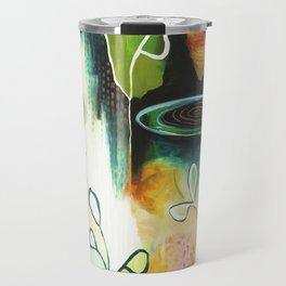 """Deep Growth"" Original Painting by Flora Bowley Travel Mug"
