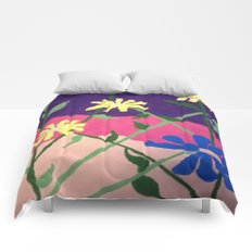 Colorful Flower Abstract Comforters