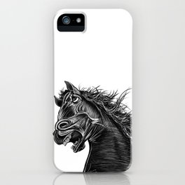 Angry Horse iPhone Case