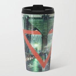 Closeup Metal Travel Mug
